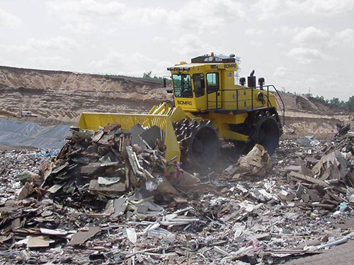 construction waste to landfill